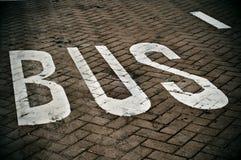 полоса для движения автобусов Стоковое Фото