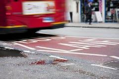 полоса для движения автобусов london Стоковое фото RF
