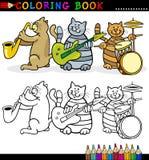 Полоса котов для книги или страницы расцветки Стоковые Изображения