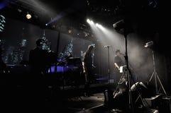 Полоса Laibach выполняет в реальном маштабе времени стоковое изображение rf
