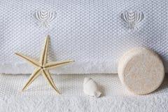полотенца белые стоковое фото rf