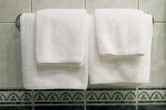 полотенца белые Стоковая Фотография