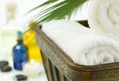 Полотенца ванны спы Стоковые Фото