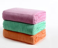 полотенца ванны цветастые Стоковые Фотографии RF