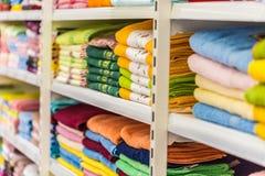 Полотенца в магазине Стоковая Фотография RF