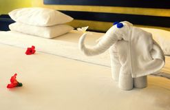 Полотенца в форме слонов Стоковое Фото