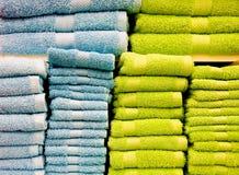 полотенца голубого зеленого цвета Стоковые Изображения