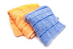 2 полотенца изолированного на белизне Стоковая Фотография RF
