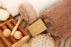 Полотенца и комплект спы Стоковая Фотография RF