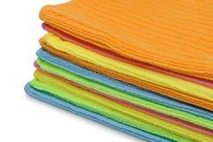 полотенца кучи цвета двойные Стоковые Изображения