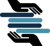 полотенца логоса руки Стоковые Изображения RF