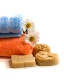 полотенца мыла Стоковое Изображение RF