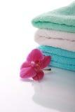 полотенца орхидеи цвета Стоковая Фотография RF