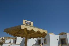 полотенца пляжа Стоковая Фотография