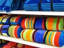 полотенца пляжа стоковые фотографии rf