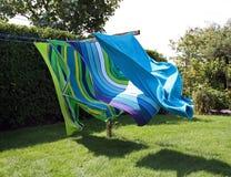 полотенца пляжа стоковые изображения rf