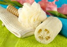 полотенца спы набора ванны Стоковые Фотографии RF