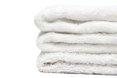 полотенца стога белые Стоковые Фотографии RF