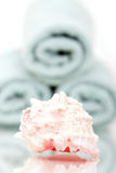 полотенца seashell ванны Стоковое Изображение