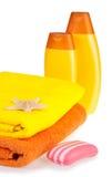 полотенца terry starfish мыла шампуня цвета Стоковая Фотография