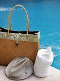 полотенце бассеина мешка стоковое фото rf