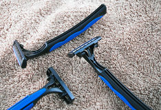 полотенце бритв Стоковое Фото