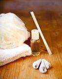 полотенце ливня роскоши ванны установленное Стоковое Изображение RF