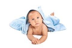 полотенце младенца красивейшее голубое вниз Стоковая Фотография RF