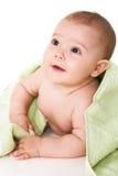 полотенце младенца счастливое Стоковые Фотографии RF