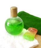 полотенце мыла шампуня Стоковые Фото