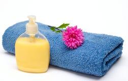 полотенце мыла Стоковые Изображения