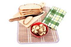 полотенце печений обломока хлеба свежее Стоковые Фото