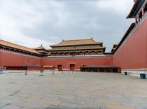 Полуденный строб, запретный город, Пекин, Китай стоковое изображение rf