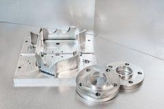Полумануфактурные стальные пустые фланцы andl Инженерство металла Стоковое Изображение