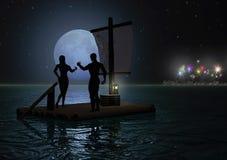 полуночная здравица Стоковое Фото