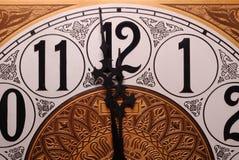 полуночная минута одно к стоковое фото rf