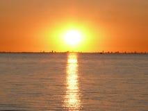 полуночное солнце Стоковые Фотографии RF