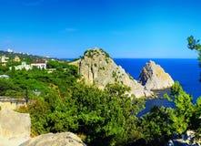 полуостров части ландшафта Крыма пляжа южный стоковые изображения rf
