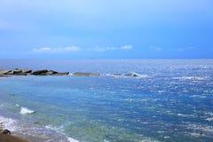 полуостров части ландшафта Крыма пляжа южный стоковое изображение