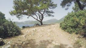 Полуостров Gelidonya маяка весной Красивые ландшафты outdoors в Турции и Азии Ландшафт в акции видеоматериалы