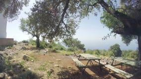 Полуостров Gelidonya маяка весной Красивые ландшафты outdoors в Турции и Азии Ландшафт в сток-видео