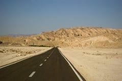 полуостров sinai хайвея Египета пустой Стоковые Изображения RF
