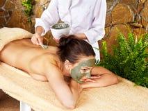 получать женщину спы массажа Стоковые Фотографии RF