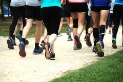 Получать подходящий jogging в парке Стоковые Фотографии RF