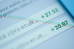Получать bitcoins на электронном меню бумажника Стоковое Фото