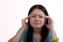 полученная головная боль стоковое изображение rf