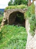 Получившийся отказ вход к Civita di Bagnoregio стоковые фото