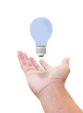 получите идею руки стоковое изображение