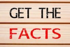 Получите факты Стоковая Фотография RF
