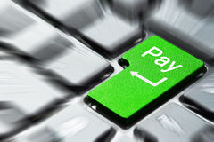 получка клавиатуры кнопки Стоковое фото RF